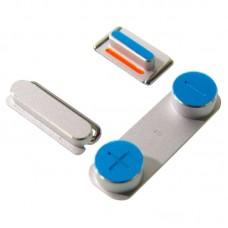 Комплект боковых кнопок  для APPLE  iPhone 5 (вкл.-выкл./громкости/беззвучный режим) серебристая