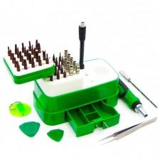 Набор инструментов  BAKU  BA-3039 (ручка с трещоткой, 2 удлинителя, пинцет прямой, присоска, 2 медиатора, 48 насадок)