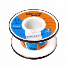 Припой  MECHANIC  HX-T100 0,4 мм, 55 гр, Sn 63% , Pb 37%