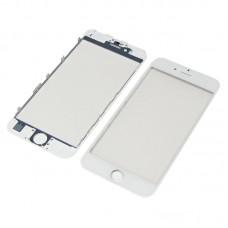 Стекло тачскрина  для APPLE  iPhone 6 белое с рамкой и OCA плёнкой Оригинал