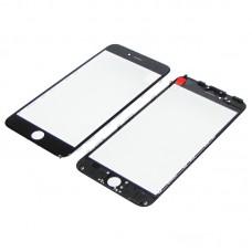 Стекло тачскрина  для Apple  iPhone 6 Plus чёрное с рамкой и OCA плёнкой HC