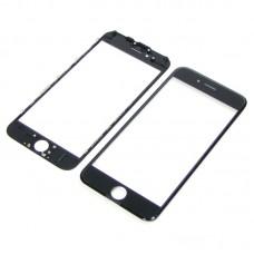 Стекло тачскрина  для Apple  iPhone 6 чёрное с рамкой и OCA плёнкой HC
