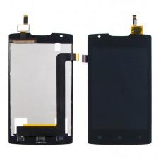 Дисплей  для LENOVO  A1000 с чёрным тачскрином (смартфон)