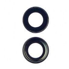 Стекло камеры  для APPLE  iPhone 7 черное с чёрной рамкой