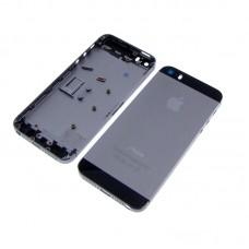 Корпус  для APPLE  iPhone 5S серый с чёрными вставками, в комплекте с SIM-держателем и кнопками