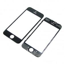 Стекло тачскрина  для Apple  iPhone 5s чёрное с рамкой и OCA плёнкой HC