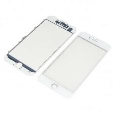 Стекло тачскрина  для Apple  iPhone 7 белое с рамкой и OCA плёнкой HC
