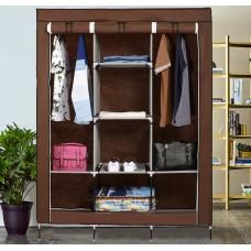 Складной тканевый шкаф Storage Wardrobe 88130 № G09-32 КОРИЧНЕВЫЙ