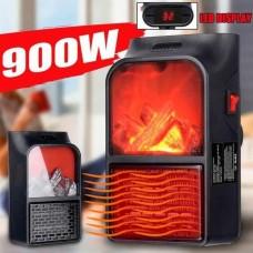 Обогреватель Flame Heater с имитацией камина с пультом управления