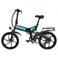 """Электровелосипед ZM TigerVolt 20, титановый металлик, колеса 20"""", 7-скоростной, моторколесо 350W, акк 36V 7,5Ah (270Wh)"""
