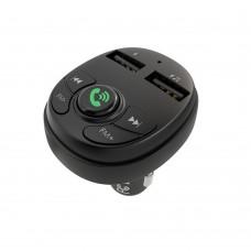 Автомобильное зарядное устройство  Borofone  BC26 2 USB 2.1A чёрное с функцией FM-модулятора