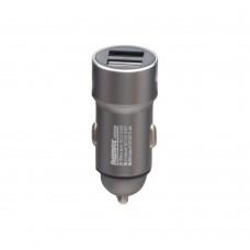 Автомобильное зарядное устройство  Remax  RCC 220 2 USB 2.4A стальное