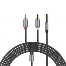 AUX кабель  Hoco  UPA10 1,5m RCA Audio 3.5 mm серый