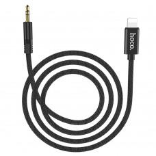 AUX кабель  Hoco  UPA13 1m Lightning-3.5 mm чёрный
