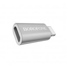 OTG переходник  Borofone  BV5 Micro to Lightning стальной