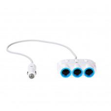 Автомобильное зарядное устройство  Hoco  C1 2 USB разветвитель прикуривателя белое