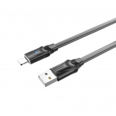 USB кабель  Borofone  BU12 Lightning 1,2m 2.4A чёрный