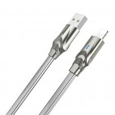 USB кабель  Borofone  BU12 Lightning 1,2m 2.4A серый