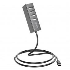 USB Hub  Hoco  HB1 4USB серый