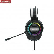 Наушники накладные игровые Lenovo H401 3.5MM+USB чёрные