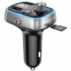 Автомобильное зарядное устройство Borofone BC32 2 USB QC3.0 чёрное с фунцкией FM-модулятора