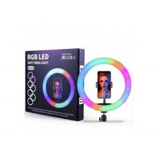 Кольцевая LED лампа RGB MJ33 (33см) (1 крепление) (управление на проводе) (20)