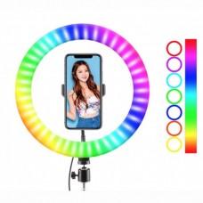 Кольцевая LED лампа RGB MJ38 (38см) (1 крепление) (управление на проводе+пульт) (10)