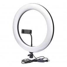 """Кольцевая LED лампа    F-360 с держателем для телефона и металлическим корпусом 14"""" 36см"""