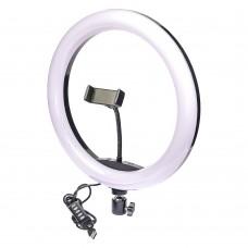 """Кольцевая LED лампа    RGB с держателем для телефона 12"""" 32см"""