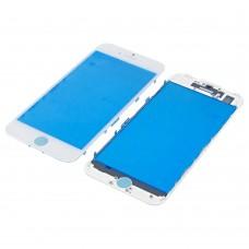 Стекло тачскрина для Apple iPhone 7 белое с рамкой HC