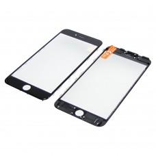 Стекло тачскрина  для Apple  iPhone 6s Plus чёрное с рамкой и OCA плёнкойHC