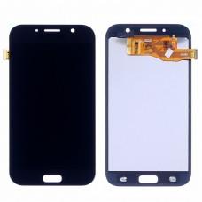 Дисплей  для SAMSUNG  A720 Galaxy A7 (2017) с чёрным тачскрином, с регулируемой подсветкой