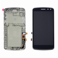 Дисплей для LG K5 X220 Dual Sim с чёрным тачскрином с серой корпусной рамкой