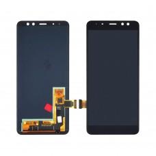 Дисплей для Samsung A530 Galaxy A8 (2018) с чёрным тачскрином OLED